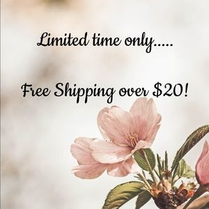 Limited time only..... Free shipping over $20!